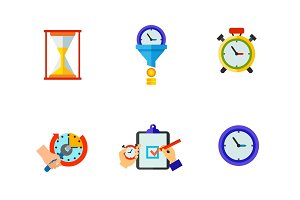 Time limit icon set