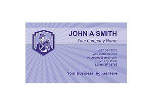 Business card template Scotsman Bagp