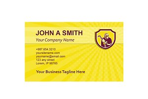 Business card template Welder Holdin