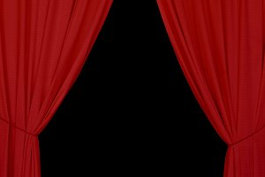 Red Drapes Background