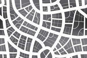 Black and white map of city