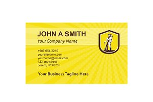 Business card template Coal Miner Ca