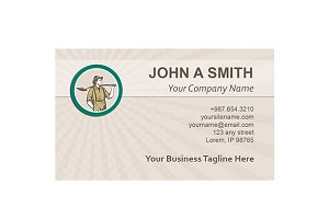 Business card template Prospector Mi