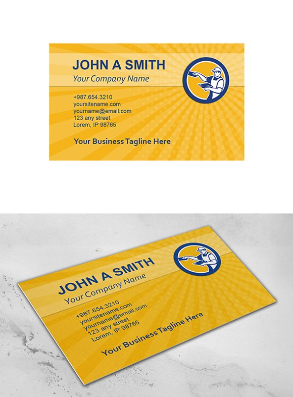 Business card template plasterer wit business card templates business card template plasterer wit business cards flashek Choice Image
