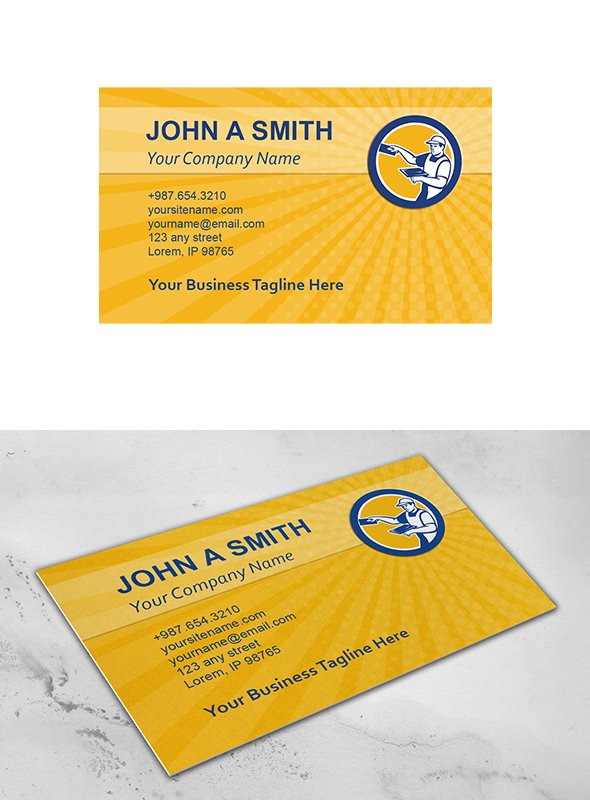 Business card template plasterer wit business card templates business card template plasterer wit business card templates creative market friedricerecipe Choice Image