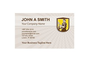 Business card template Mason Masonry