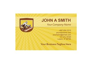 Business card template Roofer Roofin