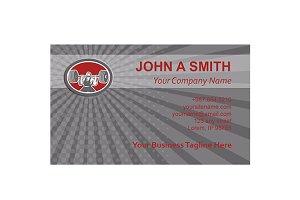 Business card template Weightlifter