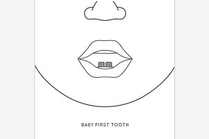 Baby first tooth