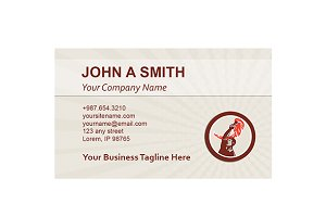 Business card template Worker Flamin