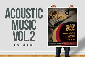 Acoustic Music Flyer Templates Vol.2