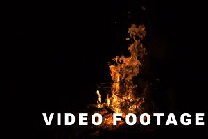 Bonfire in the night forest - slowmotion shot 180 fps