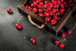 Fresh organic cherry