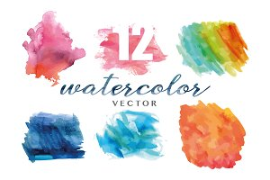 12 Watercolor Textures
