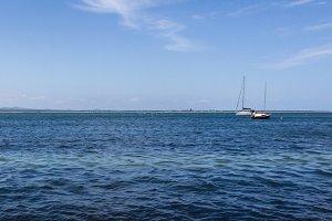 Ocean view Sail boat