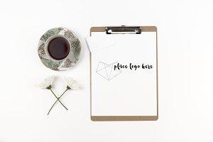 Lay Flat Clipboard & Tea Cup