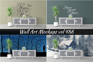 Wall Mockup - Sticker Mockup Vol 486