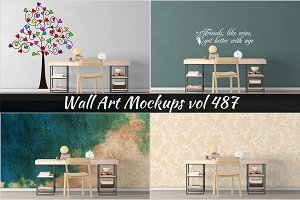 Wall Mockup - Sticker Mockup Vol 487