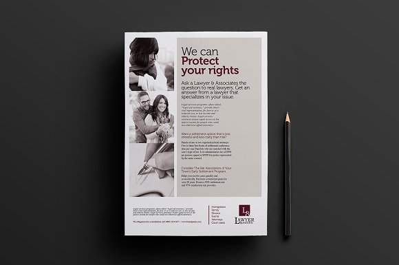 Law Firm Advertisement Template