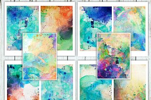 Turquoise Watercolor paper pack