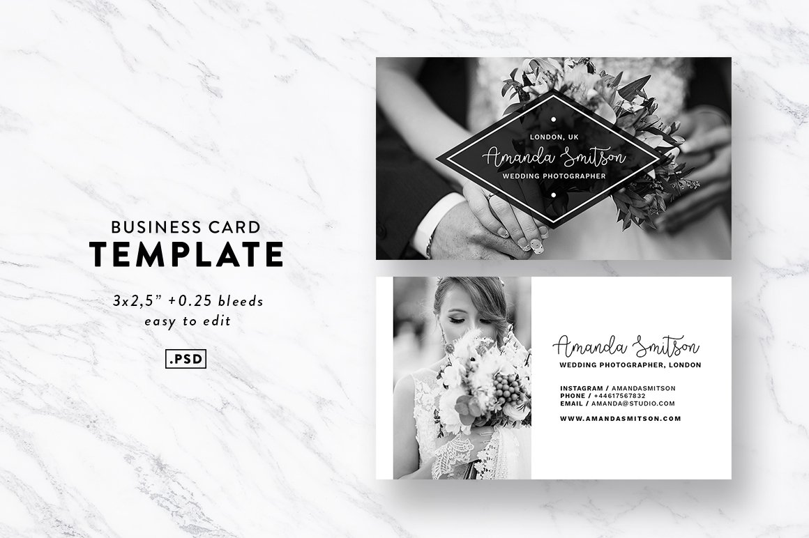 Wedding Photographer Business Cards Image collections - Business ...