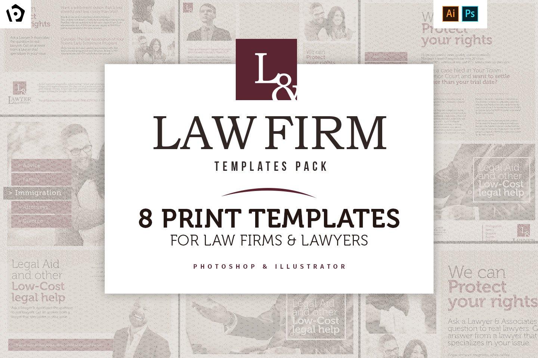 law firm templates pack flyer templates creative market. Black Bedroom Furniture Sets. Home Design Ideas
