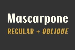 Mascarpone Typeface