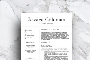 Simple resume template (3 page)