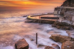 Bronte beach in morning
