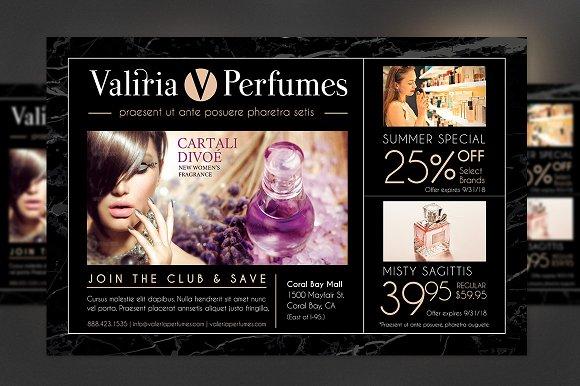 perfume club flyer template flyer templates creative market