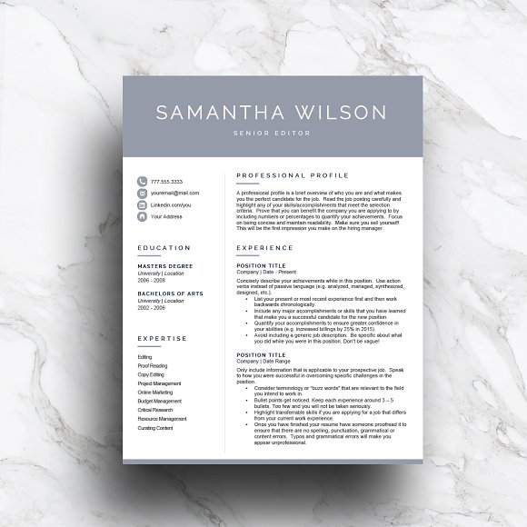 page modern resume template templates word free psd doc