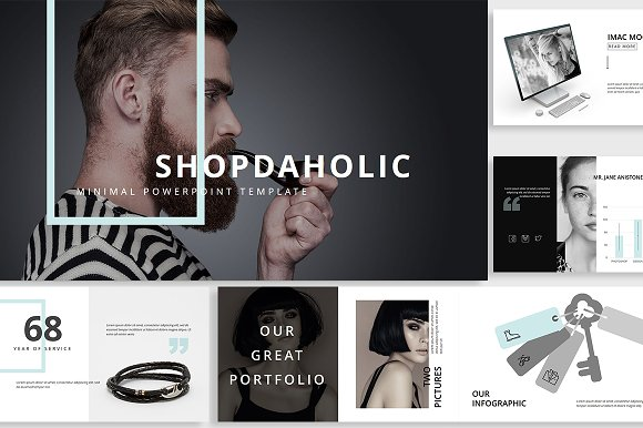 Shopdaholic Powerpoint Template