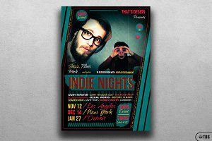 Indie Nights Flyer Template