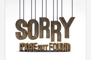 Page not found. 3D rendering