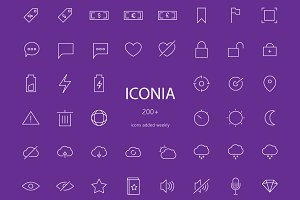 Iconia - expanding icon bundle