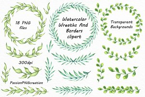 Watercolor Wreaths clipart