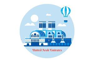 United Arab Emirates travel icon. Vector illustration