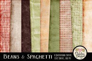 Beans & Spaghetti Digital Paper Pack