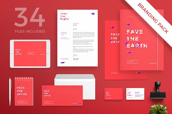 Branding Pack Save The Earth