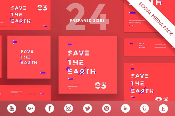 Social Media Pack Save The Earth