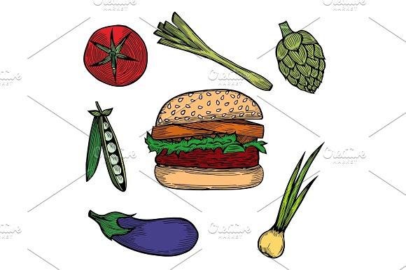 Vegetable Set Sketch