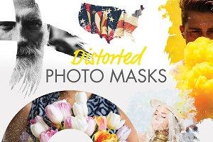 Distorted Photo Masks (Mockups)