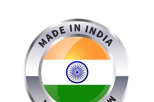 Metal badge icon, made in India