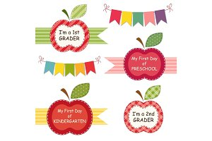 Cute Back to School stickers