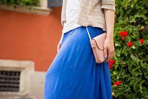 Woman with handbag on the street