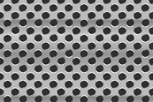 Glossy metal grid, seamless pattern