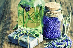 Lavender Oil and Herbal Soap