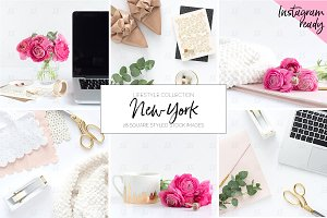 Pink lifestyle stock photo BUNDLE