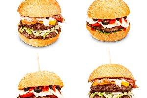 Hamburgers with cheese