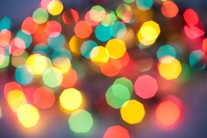 Color Christmas abstract lights